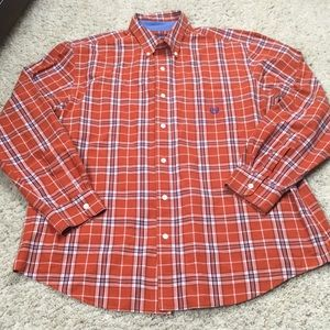 Chaps Mens Easy Care Button Down Shirt Size XL